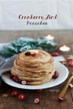 Cranberry Zimt Pancakes für ein gemütliches Adventsfrühstück