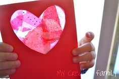 Valentine's Day Activity: Stained glass valentines