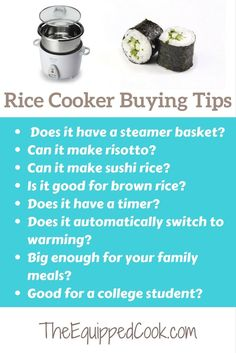 A rice cooker is essential. If you know someone going away to college, buy them a rice cooker. Know a person moving into their first apartment, buy them a rice cooker. Fast dinner recipes are so easy with a rice cooker. Easy Family Dinners, Fast Dinners, Family Meals, Best Rice Cooker, Rice Cooker Recipes, Ways To Eat Healthy, Easy Healthy Recipes, Eating Healthy, Healthy Meals