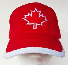 CANADA FLAG SOCCER BASEBALL HAT CAP RED MAPLE LEAF 258141fa1a7