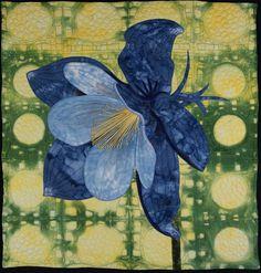 Handmade Art Quilt  Columbine by joystrings on Etsy, $200.00