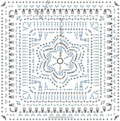 Crochet Squares Patterns Dahlia Bloom Afghan Square Crochet Pattern – Petals to Picots - I'm loving this Dahlia Bloom Afghan Square Pattern! I can already imagine all the lovely color combinations you will make! Crochet Mandala Pattern, Granny Square Crochet Pattern, Crochet Diagram, Crochet Chart, Crochet Granny, Double Crochet, Afghan Patterns, Knitting Patterns, Crochet Edgings