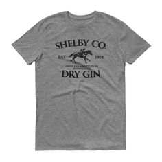d322fd2a Vintage Style Shelby Company Gin Inspired by Peaky Blinders Tshirt - Mens  Short Sleeve Tshirt: