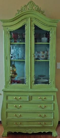 Diy China Cabinet Makeover Color Combos