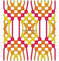 Normal friendship bracelet pattern added by CWillard. Friendship Bracelets Tutorial, Diy Friendship Bracelets Patterns, Bracelet Tutorial, Diamond Friendship Bracelet, Macrame Tutorial, Thread Bracelets, Embroidery Bracelets, Handmade Bracelets, Loom Bracelets