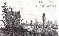Ex Libris André Waltz par Hansi