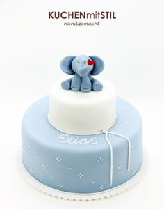 www.KUCHENmitSTIL.at - The finest Pastry - Christening Cake Baptism Cake Elephant Cake Tauftorte