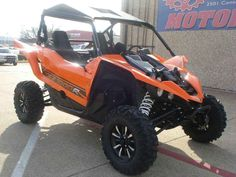 New 2016 Yamaha YXZ1000R Blaze Orange / Black ATVs For Sale in Texas. 2016 Yamaha YXZ1000R Blaze Orange / Black, ITS HERE!!! 2016 Yamaha YXZ1000R!! TRUE 5 speed with a FOOT CLUTCH!! Smoke your buddies RZR. WE FINANCE ALL CREDIT!! - THE WORLD'S FIRST PURE SPORT SIDE BY SIDE The all-new YXZ1000R. A sport 3-clyinder engine and class-defining 5-speed sequential shift transmission. Welcome to the ultimate pure sport SxS experience. Available from December 2015 Arlington Motorsports is a located on ma Hurricane Harbor, Dfw Airport, Tarrant County, Can Am Spyder, Fort Worth Texas, Jet Ski, School Colors, Water Crafts, Sport Bikes
