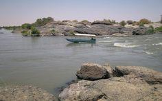 6th Cataract, Sabaloka Gorge, Sudan http://www.panoramio.com/photo/9024130