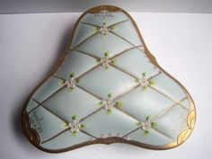 Beautiful Vintage Powder Blue & Gold Victorian by GoodDesign4All, $30.00
