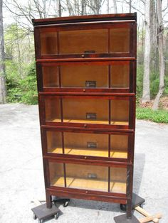 Very uncommon Mahogany finish Barrister Bookcase by Viking Barrister Bookcase, Bookcases, Wooden Rack, Office Furniture, Cabinets, Drawers, Objects, Shelves, Storage
