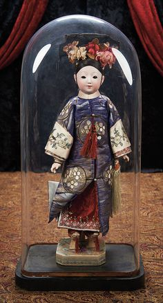 The Lifelong Collection of Berta Leon Hackney: 29 Japanese Bisque Portrait Doll w/ Elaborate Coiffure & Costume for the French Market Antique Dolls, Vintage Dolls, Paper Dolls, Art Dolls, Chinese Dolls, Chinese Opera, Doll Japan, Marionette, Asian Doll