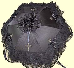 Black cross parasol