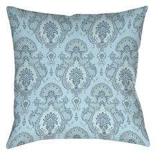 Damask Pattern Printed Throw Pillow