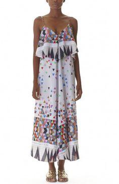 Maanguko dress - colourful triangles. Ethically made in Kenya
