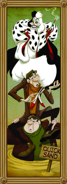 Disney Villains take on famous roles in the Haunted Mansion.