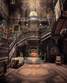 Looks like it's from the movie Crimson Peak. It may be a real place, but it definitely looks like the house in Crimson Peak Abandoned Mansions, Abandoned Houses, Abandoned Places, Old Houses, Abandoned Castles, Haunted Places, Gothic Architecture, Beautiful Architecture, Beautiful Buildings