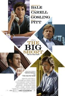 The first official film poster for director Adam McKay's new dark comedy The Big Short has been released. The poster features stars Ryan Gosling, Brad Pitt, Steve Carell and Christian Bale along with the tagline 'this is a true story'. Steve Carell, Christian Bale, Ryan Gosling, Brad Pitt, Movies To Watch, Good Movies, Awesome Movies, Movies Free, New Movies In Theaters