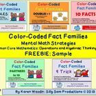 FREEBIE: Common Core Mathematics: Color Coding helps bring to light the Mental Math Strategies through Fact Families for students! These Sample Worksheets...