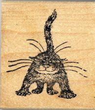Edward Gorey Wood Mounted Rubber Stamp Here Kitty Kitty by Kidstamps