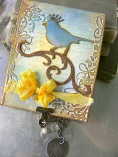 Stamptramp:12 Tags of 2012 - April Tim Holtz bird and embossing