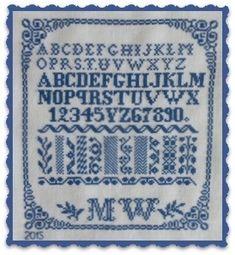 MW ca. 1900   European Reproduction Samplers from Sabine Taterra-Grundacker   Atelier Steekjes & Kruisjes
