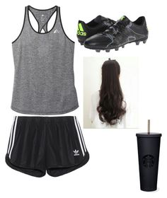 """""""Soccer practice"""" by kpoppaen ❤ liked on Polyvore featuring adidas and adidas Originals"""