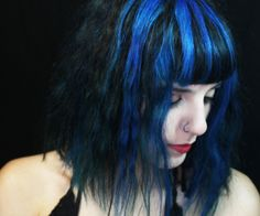 Me and my blue hair  @Morgan Steve