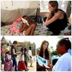 Angel's Face with a Heart of Gold: Angelina Jolie as United Nation's Goodwill Ambassador at Angelina Jolie Charity, Angelina Jolie Style, Brad And Angelina, Angilina Jolie, Jolie Pitt, Golden Globe Award Winners, Nurse Aesthetic, Celebs, Top Celebrities