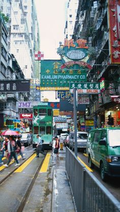 Busy streets of Hong Kong