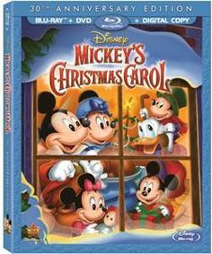 Ring in the holidays with a new Anniversary Special Edition of Mickey's Christmas Carol on DVD plus Digital Copy. Disney's timeless tale shine. Walt Disney, Disney Blu Ray, Disney Films, Disney Mickey, Disney Art, Disney Characters, Top 10 Christmas Movies, Mickey Christmas, Christmas Carol