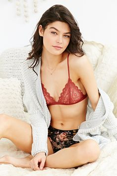 730921d81bae5 Kimchi Blue Lace Triangle Bra. Urban Outfitters