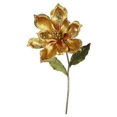 """22"""" Christmas Velvet Magnolia Gold 3 ct : Target"""