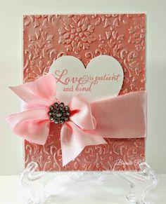Rose Blossom Legacies: Love is Patient #DamaskEmbossingFolder