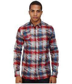 Marc Ecko Cut & Sew Roebling L/S Woven Shirt Red - 6pm.com