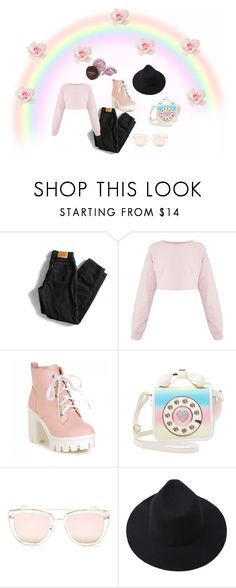 """""""Everyone has one's own path."""" by explorer-14579595798 on Polyvore featuring мода, Levi's, Betsey Johnson и Quay"""