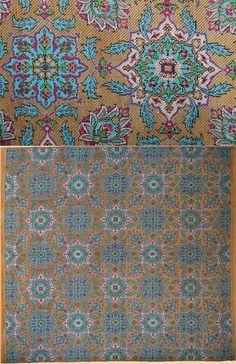 Antique Persian Textile. Silk Brocade with Gold Thread.  Pahlavi Dynasty  1925-1978 A.D Circa 1930