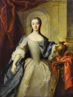 Portrait of Charlotte Louise de Rohan as a vestal virgin, C.1737 by Jean-Marc Nattier   Flickr - Photo Sharing!