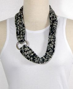 Infinity Scarf Necklace Fabric Necklace Eco Friendly by mipola, $24.00