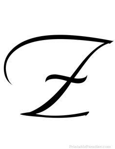 Printable Letter Z in Cursive Writing