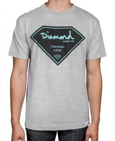 Diamond Supply Co. - Certified Lifer T-Shirt - $30 Diamond Supply Co, March 2013, Huf, Boyfriend, Mens Fashion, My Style, Mens Tops, T Shirt, How To Wear