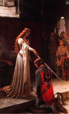 The Knighting by John William Waterhouse