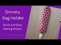 How to Make a Grocery Bag Holder - Easy Sewing For Beginners Sewing Hacks, Sewing Tutorials, Sewing Crafts, Sewing Ideas, Sewing Tips, Old Bed Sheets, Grocery Bag Holder, Grocery Bags, Plastic Bag Holders