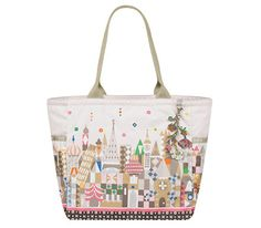 f5c19b91852 Disney It s a Small World Collection by LeSportsac - 2376 Picture Tote with  Charm