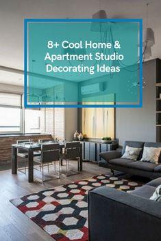 8+ Cool Home & Apartment Studio Decorating Ideas For Best Inspirati #apartmentstudiodecoratingideas Small Studio Apartments, Studio Apartment Design, Studio Decorating, Decorating Ideas, Home Goods, Cool Stuff, Inspiration, Biblical Inspiration, Den Decor