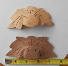Oak or Walnut hand carved drawer pulls by BandCEmporium on Etsy