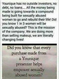 Did you know when you order Younique your changing lives??