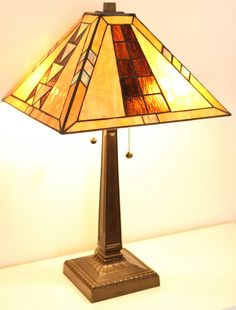 Mission Tiffany Style Table Lamp by TiffanyStyleLamps on Etsy