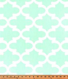 Nursing Pillow Cover - Mint Fynn Quatrefoil and Minky Boppy Cover - Mint, Modern