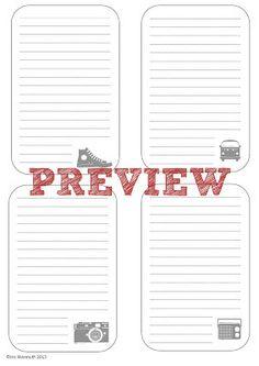 Yosemites Scrapbook: Journaling Printout Freebies